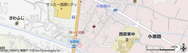 沖縄県中頭郡西原町小那覇周辺の地図