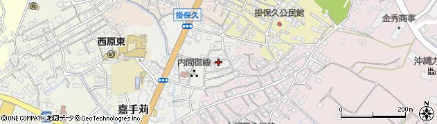沖縄県中頭郡西原町嘉手苅周辺の地図