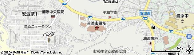 沖縄県浦添市周辺の地図