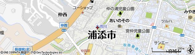 沖縄県浦添市仲西周辺の地図