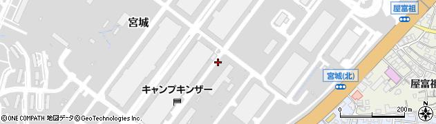 沖縄県浦添市宮城周辺の地図