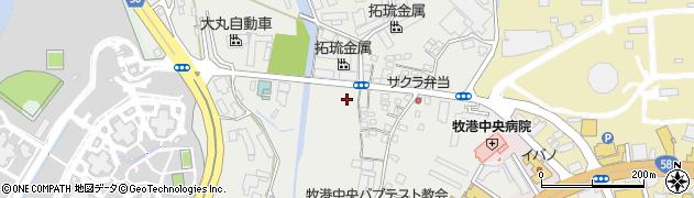 沖縄県浦添市港川周辺の地図