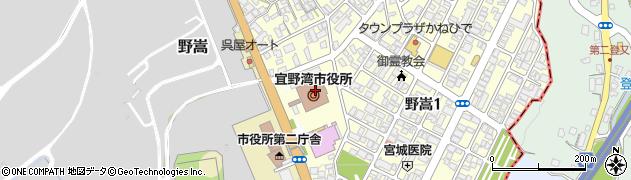 沖縄県宜野湾市周辺の地図