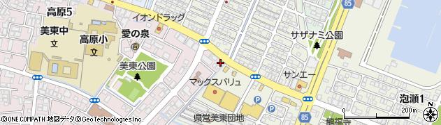 ラーメン亭高原店周辺の地図