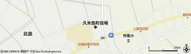 沖縄県島尻郡久米島町周辺の地図