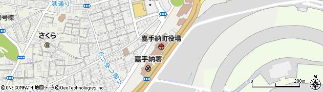 沖縄県中頭郡嘉手納町周辺の地図