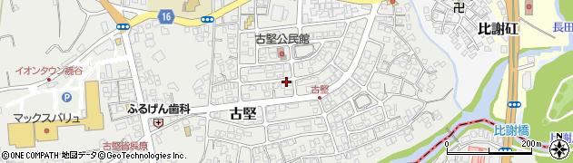 沖縄県中頭郡読谷村古堅周辺の地図