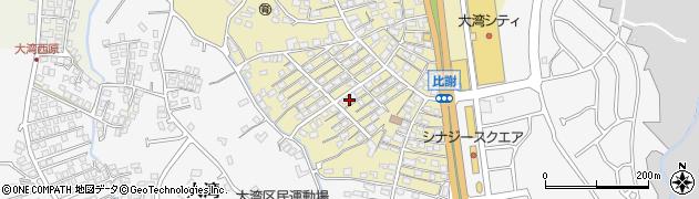 沖縄県中頭郡読谷村比謝周辺の地図