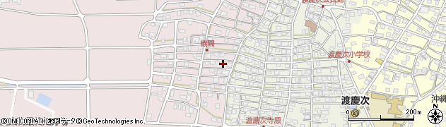 沖縄県中頭郡読谷村儀間周辺の地図