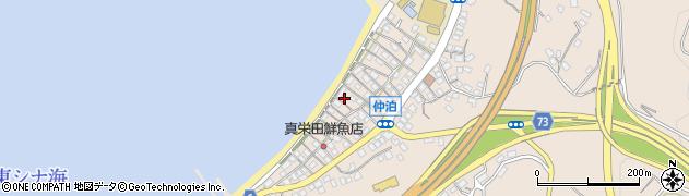 沖縄県恩納村(国頭郡)仲泊周辺の地図