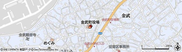 沖縄県国頭郡金武町周辺の地図