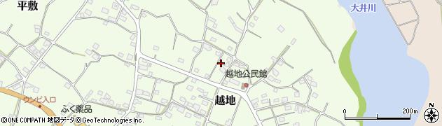 沖縄県国頭郡今帰仁村越地周辺の地図