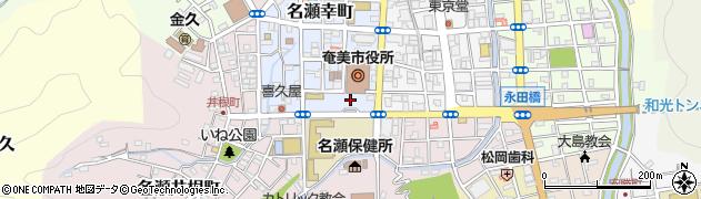 鹿児島県奄美市周辺の地図