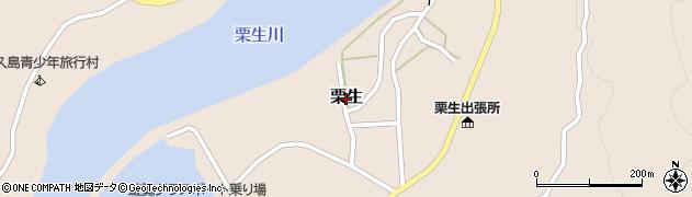 鹿児島県屋久島町(熊毛郡)栗生周辺の地図