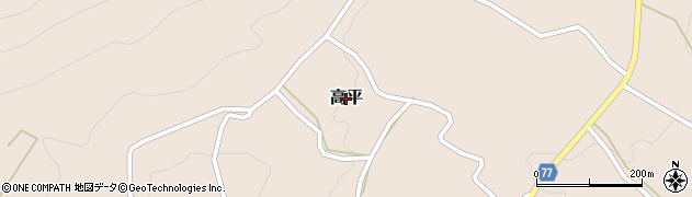鹿児島県屋久島町(熊毛郡)高平周辺の地図