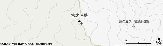 宮之浦岳周辺の地図