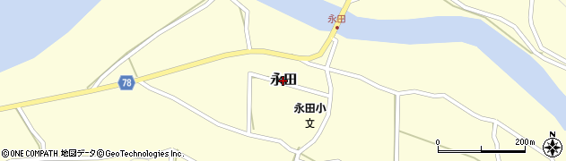 鹿児島県屋久島町(熊毛郡)永田周辺の地図