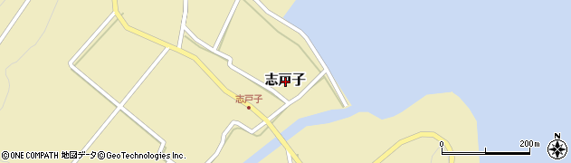 鹿児島県熊毛郡屋久島町志戸子周辺の地図