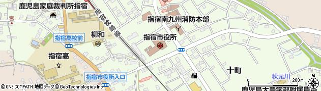 鹿児島県指宿市周辺の地図