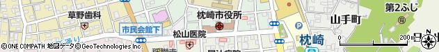 鹿児島県枕崎市周辺の地図
