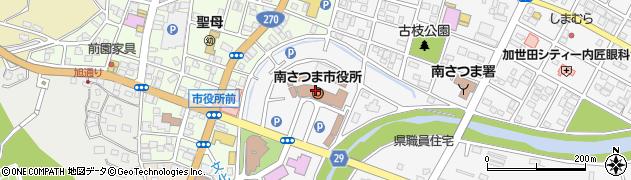 鹿児島県南さつま市周辺の地図