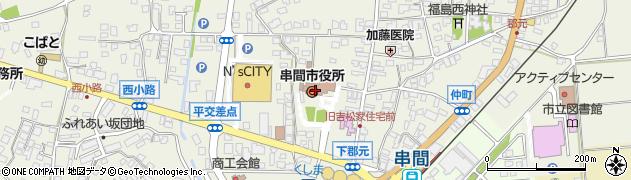 宮崎県串間市周辺の地図