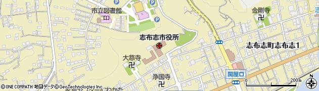鹿児島県志布志市周辺の地図