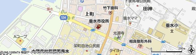 鹿児島県垂水市周辺の地図