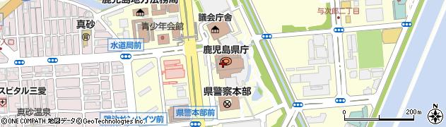 鹿児島県周辺の地図