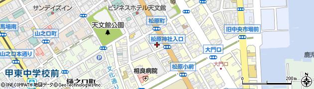 鹿児島県鹿児島市松原町周辺の地図