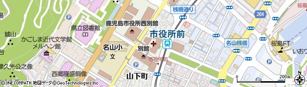 鹿児島県鹿児島市周辺の地図