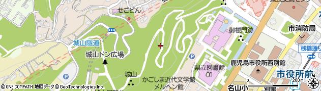 鹿児島県鹿児島市城山町周辺の地図