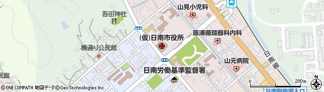 宮崎県日南市周辺の地図