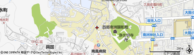 鹿児島県鹿児島市下竜尾町周辺の地図