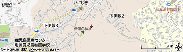 鹿児島県鹿児島市下伊敷周辺の地図