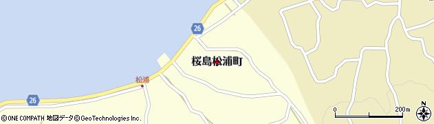 鹿児島県鹿児島市桜島松浦町周辺の地図