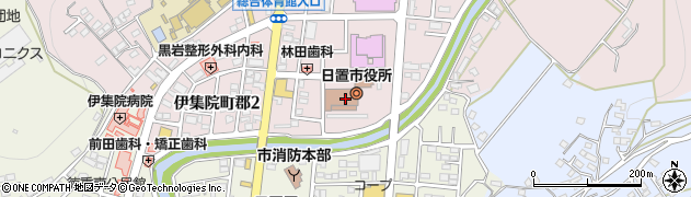 鹿児島県日置市周辺の地図
