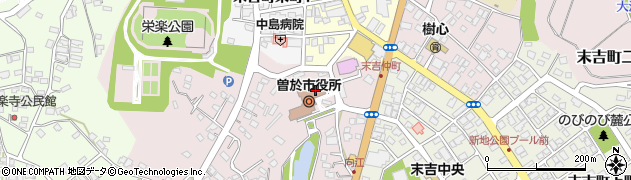 鹿児島県曽於市周辺の地図