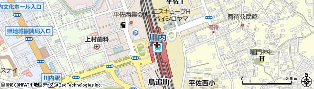 鹿児島県薩摩川内市周辺の地図