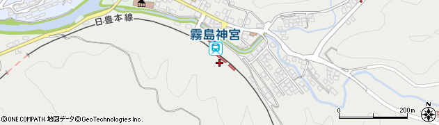鹿児島県霧島市周辺の地図