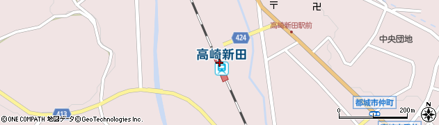 宮崎県都城市周辺の地図