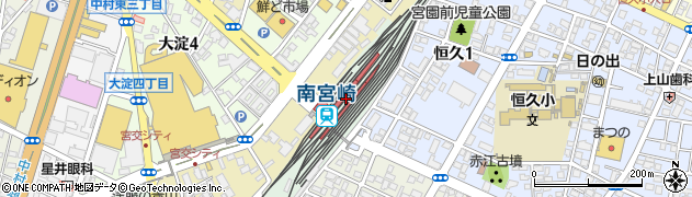 宮崎県宮崎市周辺の地図