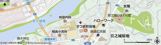 鹿児島県薩摩郡さつま町周辺の地図