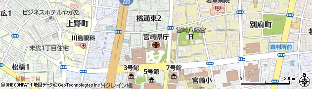 宮崎県周辺の地図