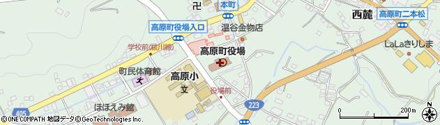 宮崎県西諸県郡高原町周辺の地図