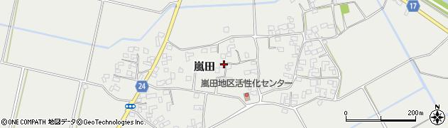 宮崎県国富町(東諸県郡)嵐田周辺の地図
