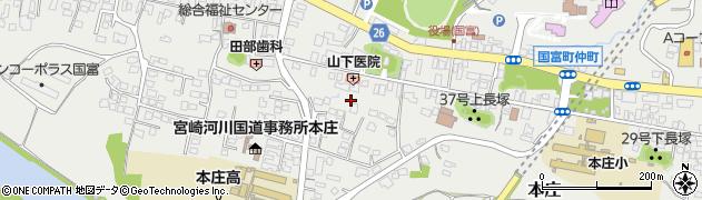 宮崎県東諸県郡国富町本庄稲荷周辺の地図