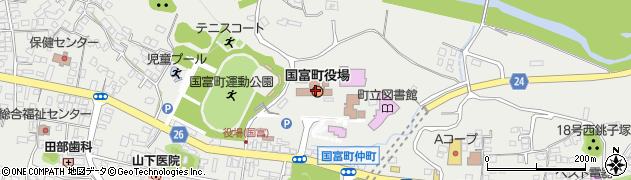 宮崎県東諸県郡国富町周辺の地図