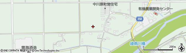 宮崎県東諸県郡綾町南俣中川原周辺の地図