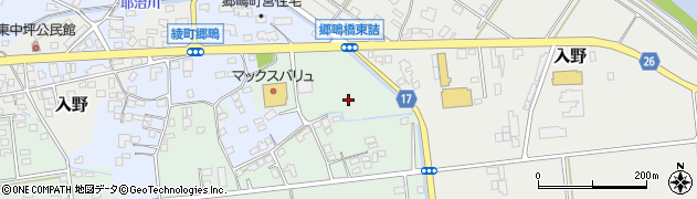 宮崎県東諸県郡綾町南俣郷鴫周辺の地図